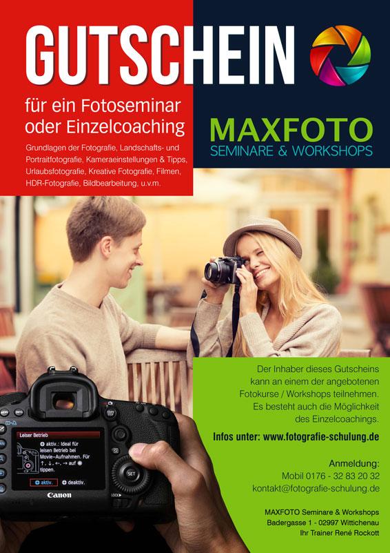 Gutschein für ein Fotografie-Seminar